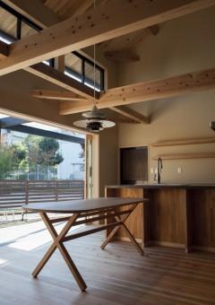 LLAMAFACTORY/ダイニングテーブル/オーク無垢材/楕円テーブル