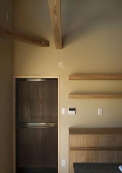 LLAMAFACTORY/カップボード/楢材/吊り棚