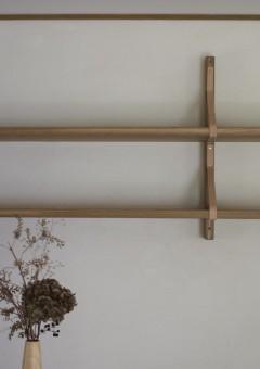 LLAMAFACTORY/吊り棚/オーク/栃木レザー