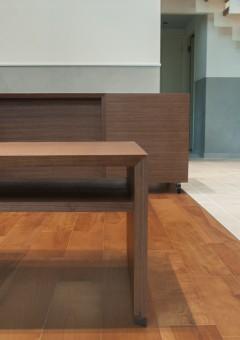 ウォールナット/オフィス家具/オフィスデスク/ローテーブル